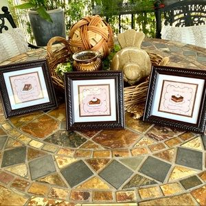 3 Piece Wall Art Susan Winget Chocolate Frames